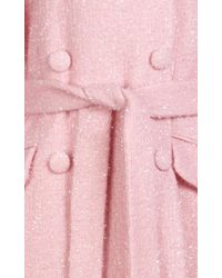 Simone Rocha Pink 'sparkle' Long Wool Blend Coat