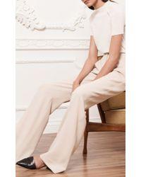 Hensely - White Short Sleeve Funnel Neck Tee - Lyst