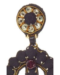 Ranjana Khan - Multicolor Brass Onyx Ruby Earrings - Lyst