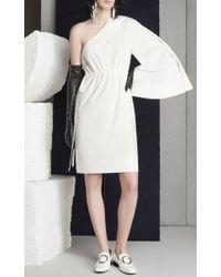 Solace London - White Aylin Asymmetric Dress - Lyst