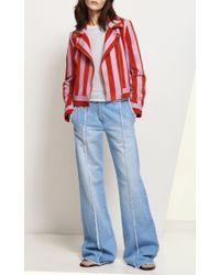 Blumarine | Blue Fringe Jeans | Lyst