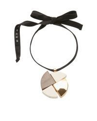 Marni | Lily White Necklace With Wood | Lyst