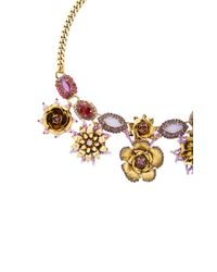 Erickson Beamon - Metallic 24k Gold-plated Vermeil Swarovski Crystal And Pearl Necklace - Lyst