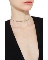 Hueb - Green Spectrum Choker With Emeralds - Lyst