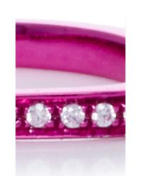 AS29 - Lana Xs Sharp Pink 1line Pinky Ring - Lyst