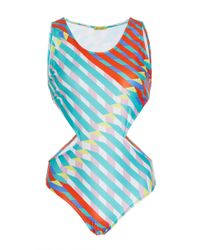 Salinas - Multicolor Gingham Convertible One Piece - Lyst