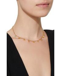 Ark - Green Emerald And Diamond Mini Gateway Dangling Necklace - Lyst