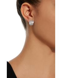 Hueb - Plisse 18k White Gold Diamond Earrings - Lyst