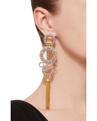 Joanna Laura Constantine - Metallic Rainbow Grommets Gold-plated Brass And Cubic Zirconia Statement Earrings - Lyst