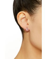 Eden Presley - Pink Stone And Diamond Quad Studs - Lyst