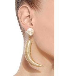 Rebecca de Ravenel - Metallic Pasha Cord And Gold-plated Clip Earrings - Lyst