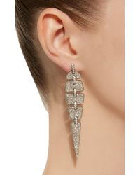 Sidney Garber - White Geometric Diamond Earrings - Lyst