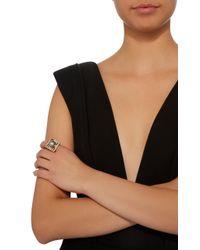 Alina Abegg - Crop Circle 18k White Gold, 18k Rose Gold, Peridot And Pearl Ring - Lyst