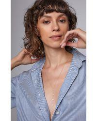 Amrapali - White 18k Gold And Diamond Lariat Necklace - Lyst