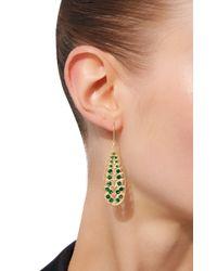 Jamie Wolf - Metallic Long Leaf Earrings With Tsavorite - Lyst