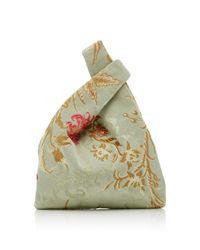 Hayward - Green Mini Venetian Silk-jacquard Shopper Tote - Lyst