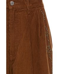 Anna Sui - Brown Studded Wide Leg Corduroy Levi's Pants - Lyst