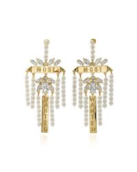 Fallon - Metallic Monarch Most Wanted Faux Pearl Earrings - Lyst