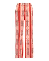 F.R.S For Restless Sleepers Red Etere Wide Striped Pant