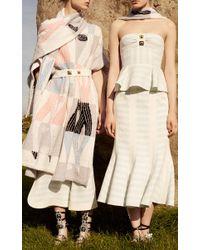 Peter Pilotto   Multicolor Striped Cotton Blend Calypso Bustier Top   Lyst