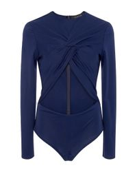 Thakoon - Blue Twist Front Bodysuit - Lyst