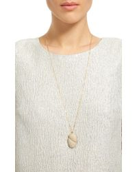 CVC Stones | White One Of A Kind Cerca Stone Necklace | Lyst