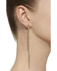 Sidney Garber - Pink 18k Rose Gold Long Knots Earrings - Lyst
