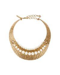 Oscar de la Renta | Metallic Gold Princess Necklace | Lyst