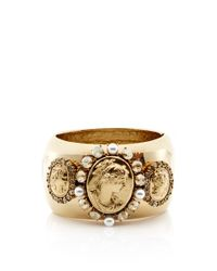 Oscar de la Renta - Metallic Portrait Bangle - Lyst