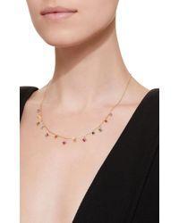 Suzanne Kalan - Metallic Rainbow Fireworks 18k Gold, Sapphire And Diamond Necklace - Lyst