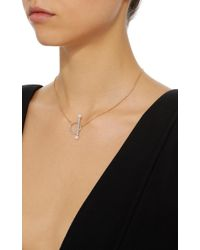 Yvonne Léon - Metallic Barre 18k Gold, Diamond And Pearl Necklace - Lyst