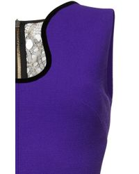 Roland Mouret - Purple Dalmon Double Wool Crepe Gown - Lyst