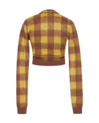 N°21 - Multicolor Stana Checked Cardigan - Lyst