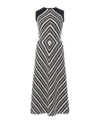 Martin Grant - Black Diamond Motif Pullover Dress - Lyst