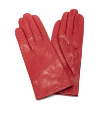 Maison Fabre   Red Floods Leather Gloves   Lyst