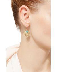 Annette Ferdinandsen - Metallic Curled Fan Palm Tree Earrings - Lyst