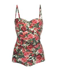 Dolce & Gabbana | Multicolor Floral One Piece Bathing Suit | Lyst