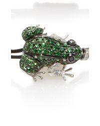 Pippo Perez - Green Garnet Frog Bracelet - Lyst