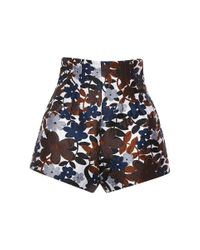 Michael Kors | Multicolor - Floral Print Shorts - Women - Silk/polyamide/polyester/rayon - 4 | Lyst