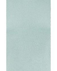 ADEAM - Blue Gathered Shoulder Rib Top - Lyst