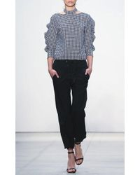 Marissa Webb - Multicolor Effy Gingham Collared Blouse - Lyst