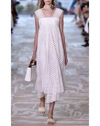 Tory Burch - White Hermosa Eyelet Dress - Lyst