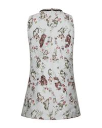 Giambattista Valli | Multicolor Distressed Floral Embroidered Jeweled Top | Lyst