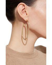 Jennifer Fisher - Metallic Large Pipe Hoop Earrings In Gold - Lyst