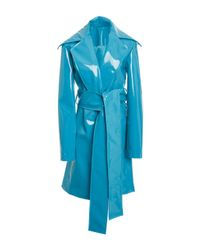 Christian Siriano | Blue Rubberized Trench | Lyst