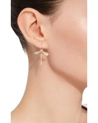 Annette Ferdinandsen - Metallic Damsel Earrings With Pearl Eyes - Lyst