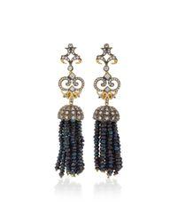 Anabela Chan - Black Midnight Tassel Earrings - Lyst