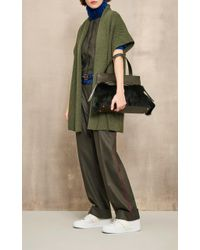 Agnona - Green Sleeveless Double Pleat Jumpsuit - Lyst