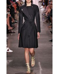 Zac Posen - Black A Line Belted Trench Coat - Lyst