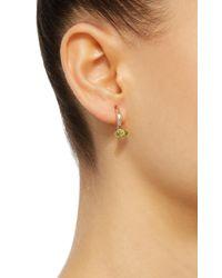 Bea Bongiasca   Green Gloriosa Lily 18k Rose Gold Peridot Earrings   Lyst
